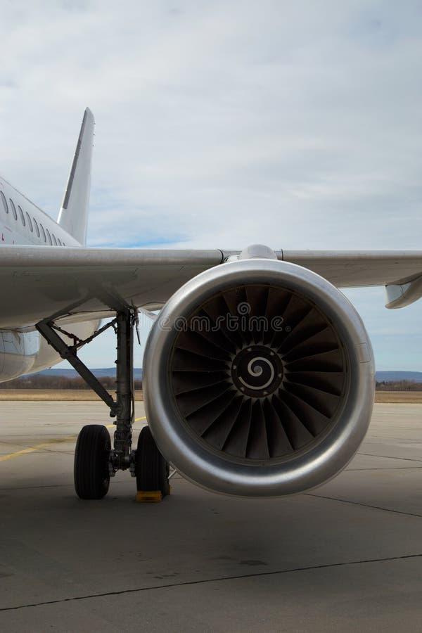 Airplane engine turbine stock photography