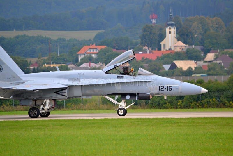 Airplane F18 Hornet stock image