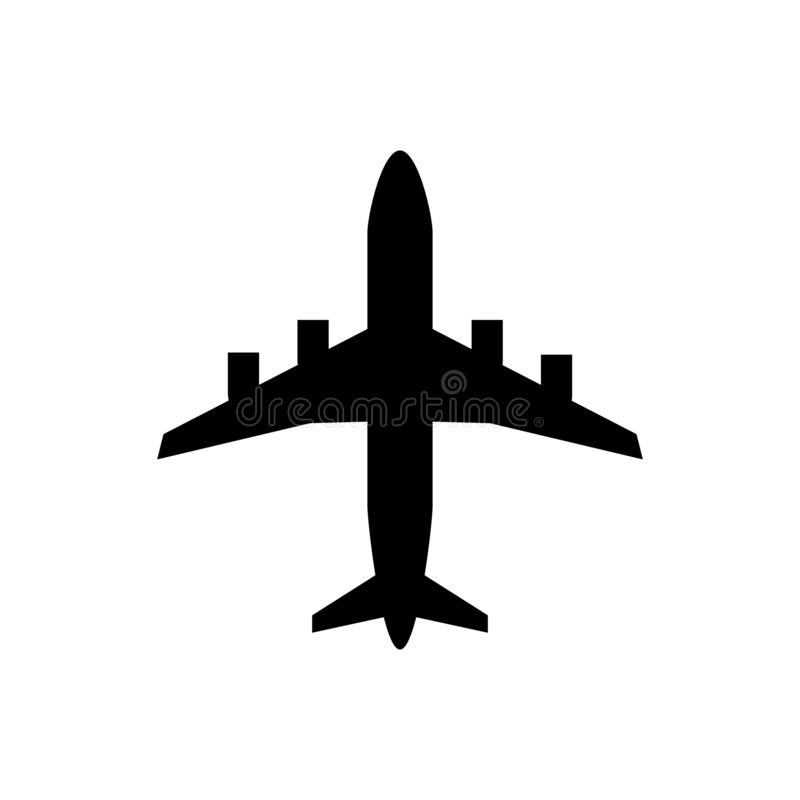 Airplane flat icon vector transportation concept for graphic design, logo, web site, social media, mobile app, ui illustration.  vector illustration