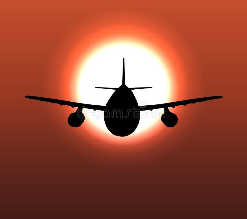 Airplane flight tickets air fly cloud sky travel. Vector 5 stock illustration