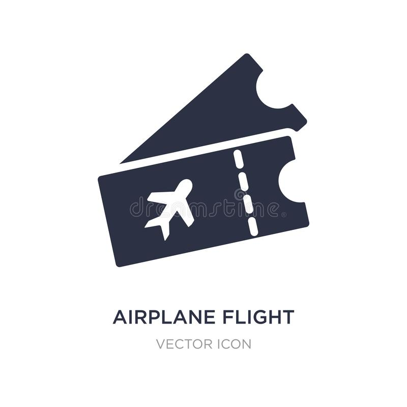 Airplane flight tickets icon on white background. Simple element illustration from Transport concept. Airplane flight tickets sign icon symbol design vector illustration