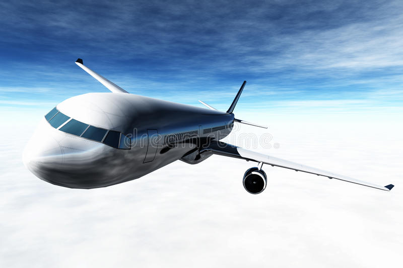 Download Airplane Flying 3D render stock image. Image of airliner - 23459869