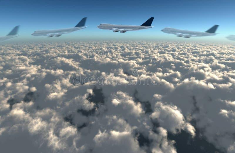 Download Airplane flying path stock illustration. Illustration of sunrise - 21962009