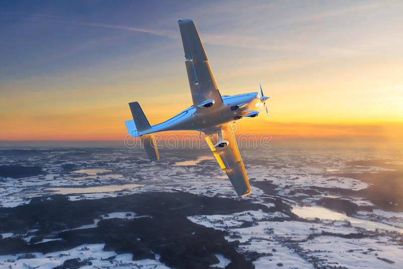 Download Airplane Flying On The Sky. Stock Photo - Image: 38955685