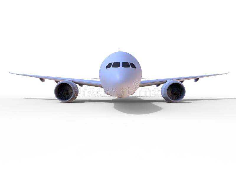 Airplane front view stock illustration