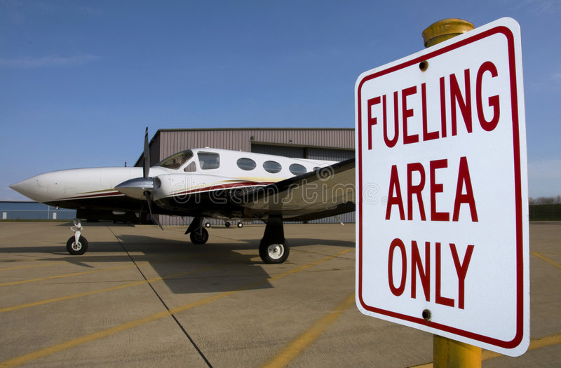 Airplane Fueling stock images