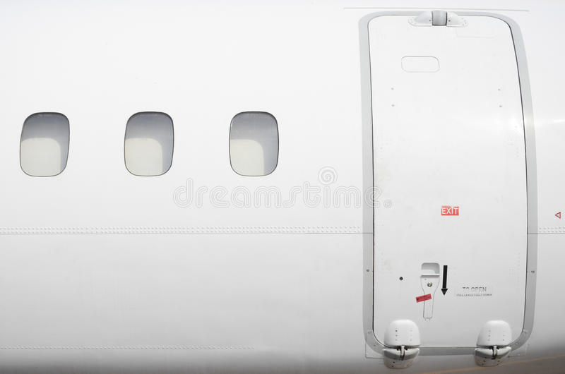 Airplane fuselage royalty free stock image