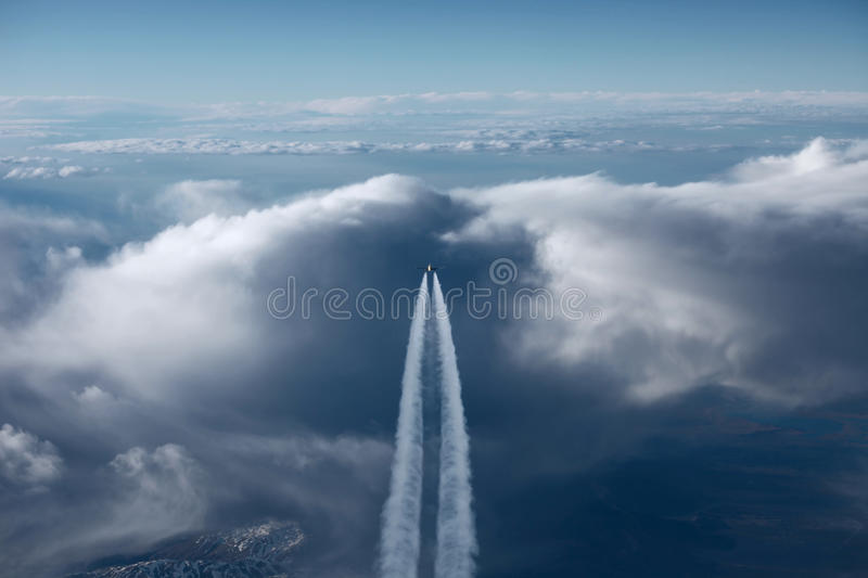 Download Airplane On The Horizon Stock Photography - Image: 15577952