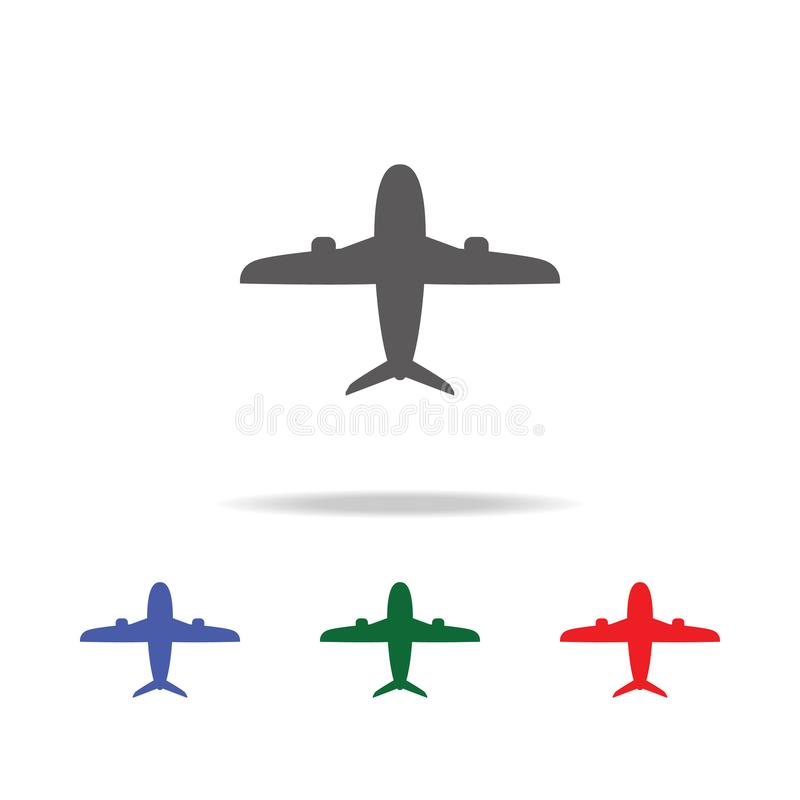 airplane Icon. Elements of airport multi colored icons. Premium quality graphic design icon. Simple icon for websites, web design, royalty free illustration