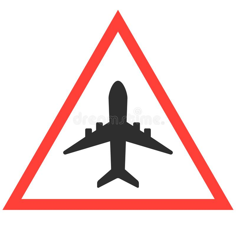 Airplane Icon in trendy flat style isolated on grey background. Plane symbol for your web site design, logo, app, UI. Vector royalty free illustration