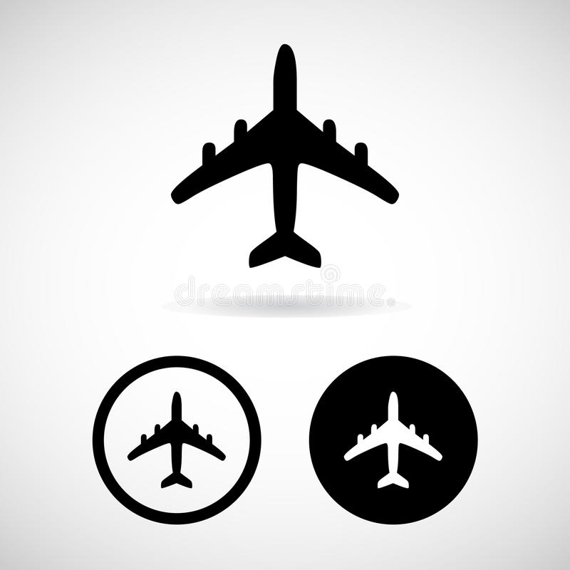Airplane icon, Vector illustration royalty free stock images