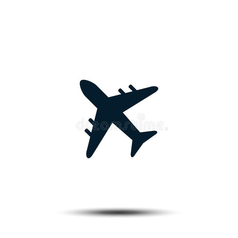 Airplane Icon Vector Template. Airport Sign Flat Design stock illustration