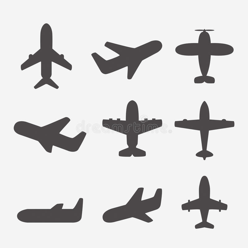 Airplane icons vector illustration