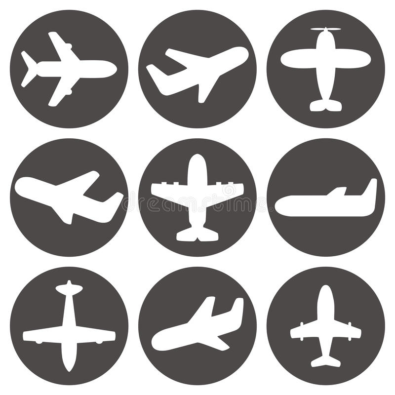 Airplane icons vector vector illustration