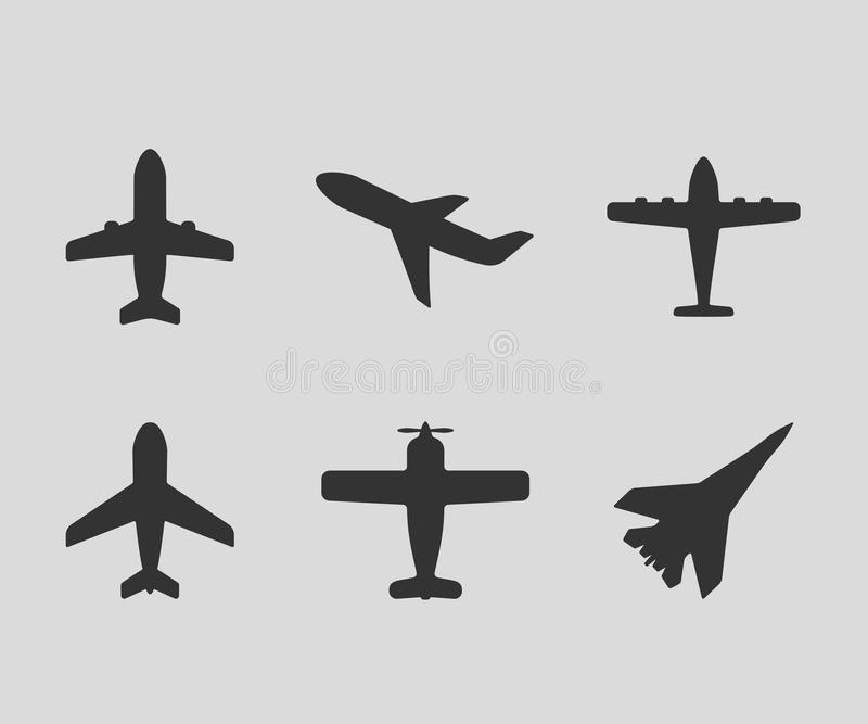 Airplane icons royalty free illustration