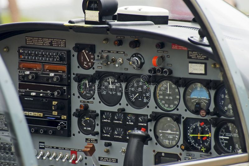 Airplane Instruments royalty free stock photography