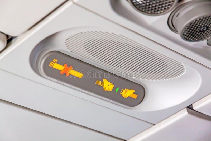 Airplane interior - Airbus A320 royalty free stock photos