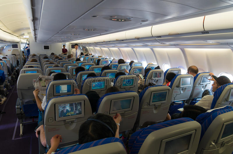 Download Airplane Interior Editorial Stock Photo. Image Of Pass   56374258