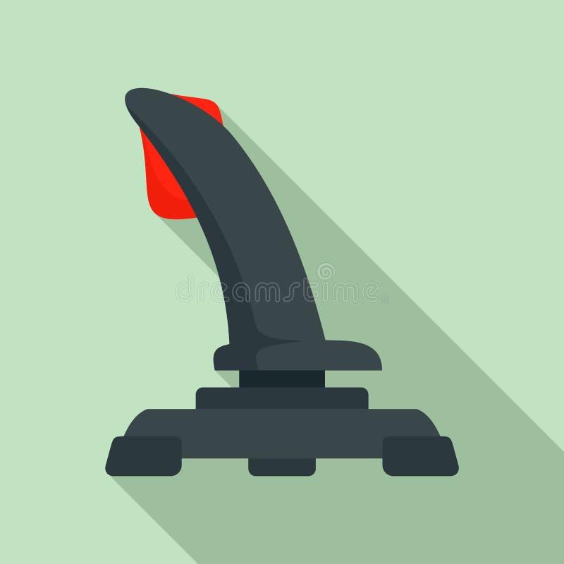 Airplane joystick icon, flat style vector illustration