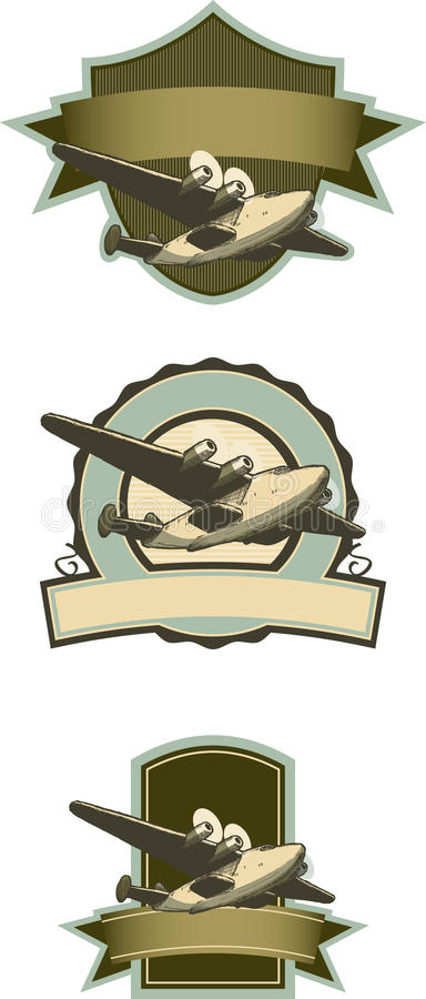 Airplane Labels Royalty Free Stock Images