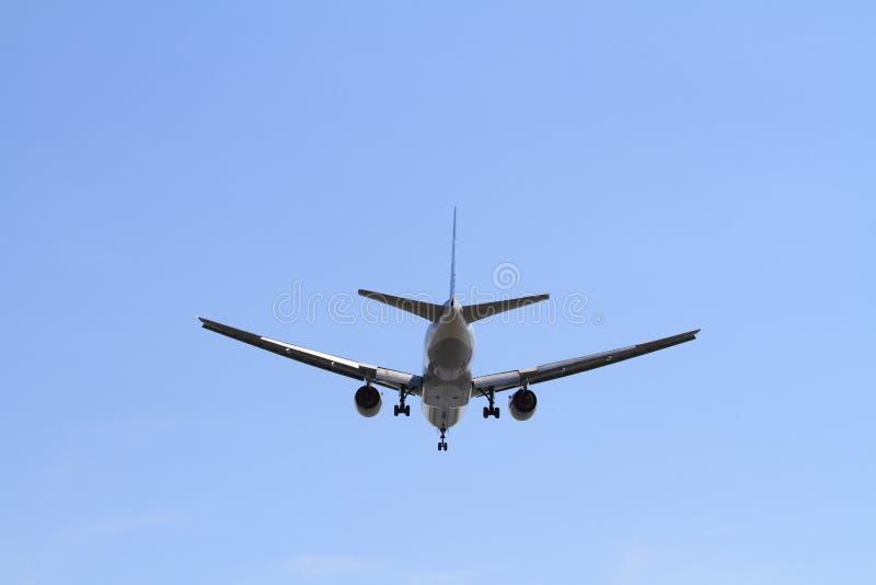 Airplane landing at Haneda airport. (B777 stock image
