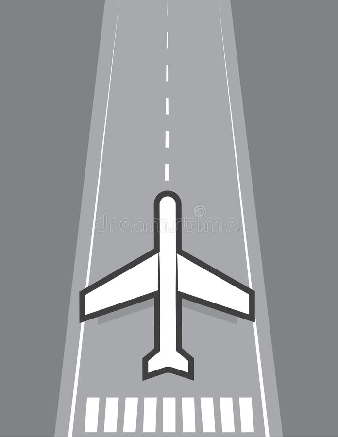 Download Airplane Landing Or Taking Off Stock Vector - Image: 31275626