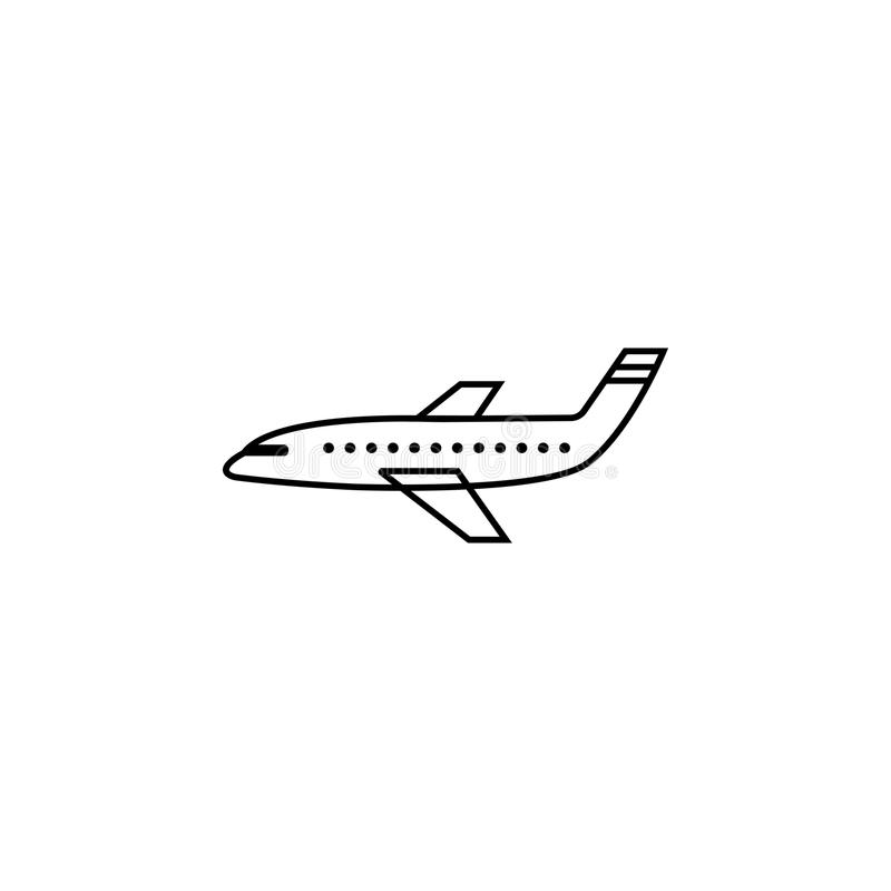 Airplane line icon, navigation and air transport vector illustration