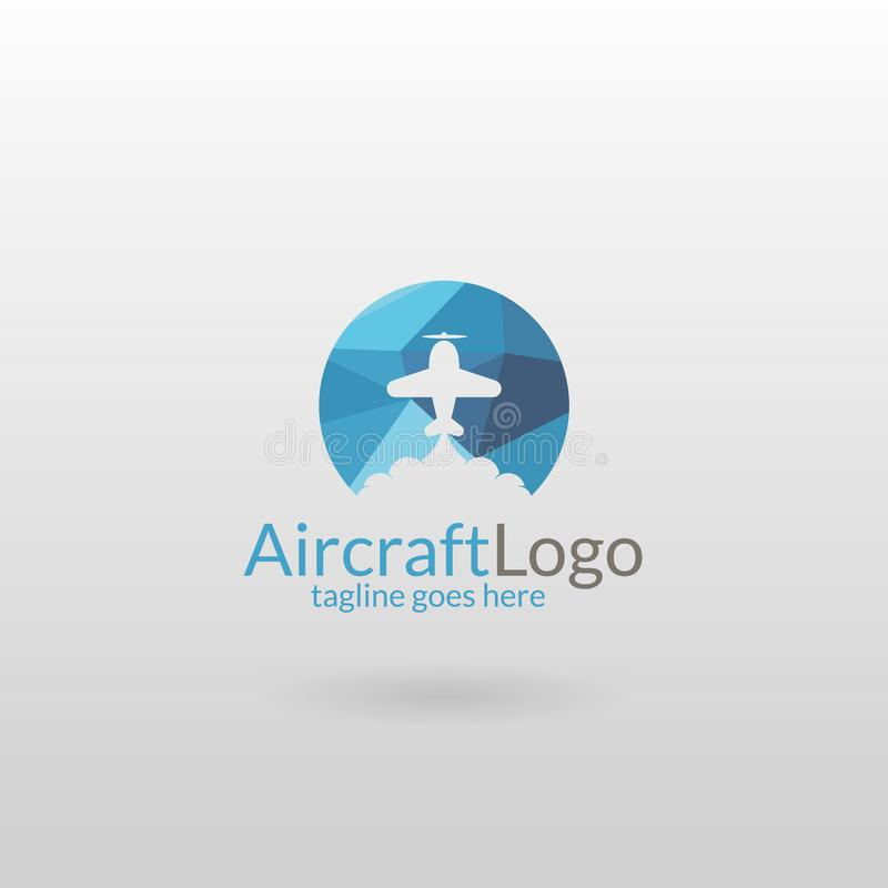 Airplane logo. Polygonal plane logo. Logo template suitable for businesses and product names. Easy to edit, change size, color and text stock illustration