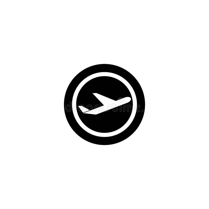 Airplane logo vector icon. Airplane logo templat vector icon design, model, turbine, speed, side, modern, business, aeroplane, airport, navigation, button royalty free illustration