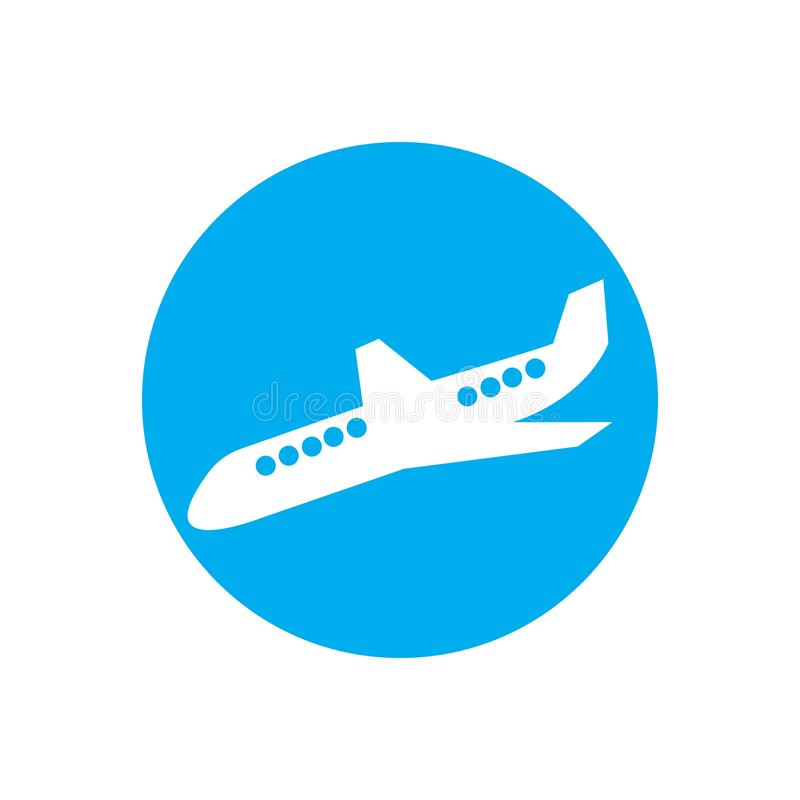 Airplane logo Template vector illustration icon design. Plane Icon Vector, landing, abstract, clean, journey, pilot, modern, turbine, aeroplane, simple, trip royalty free illustration