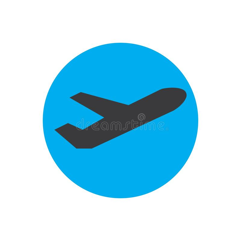 Airplane logo Template vector illustration icon design. Plane Icon Vector, landing, abstract, clean, journey, pilot, modern, turbine, aeroplane, simple, trip stock illustration
