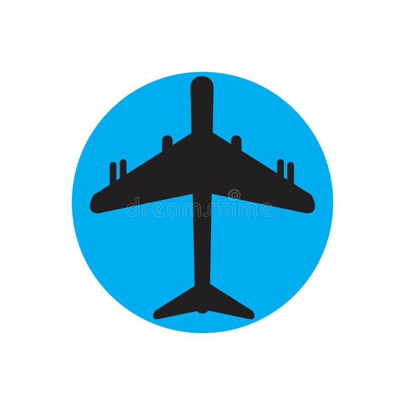 Airplane logo Template vector illustration icon design. Plane Icon Vector, landing, abstract, clean, journey, pilot, modern, turbine, aeroplane, simple, trip royalty free illustration