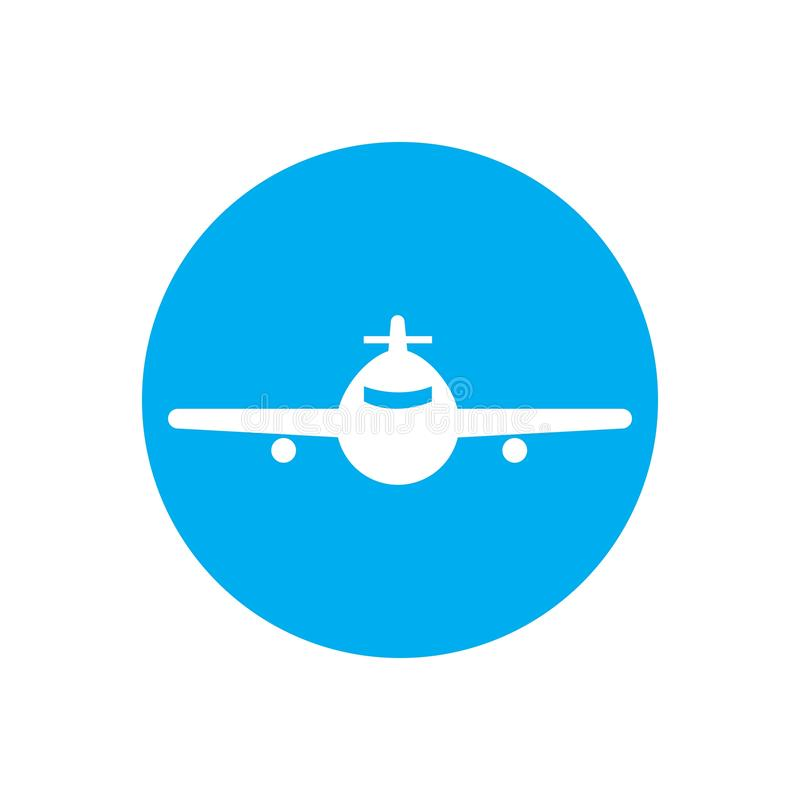Airplane logo Template vector illustration icon design. Plane Icon Vector, landing, abstract, clean, journey, pilot, modern, turbine, aeroplane, simple, trip stock illustration