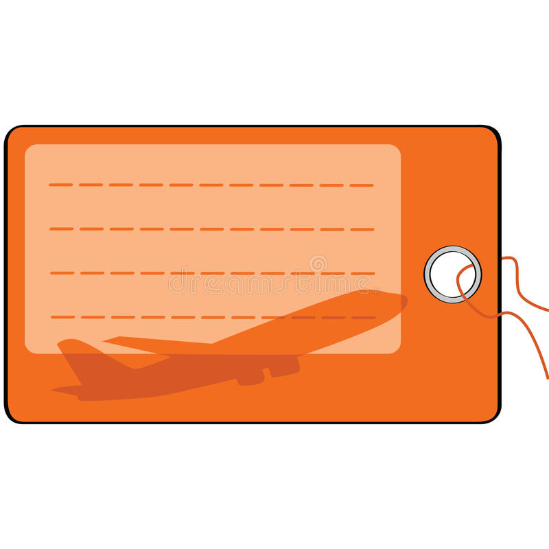 Download Airplane luggage tag stock vector. Image of graphic, name - 15376023