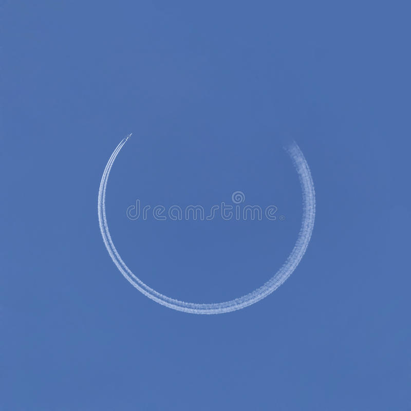 Download Airplane Making Circle Trace Stock Image - Image: 29128151