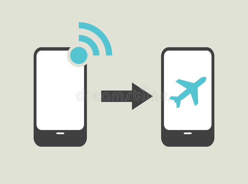 Airplane mode - flight mode vector illustration