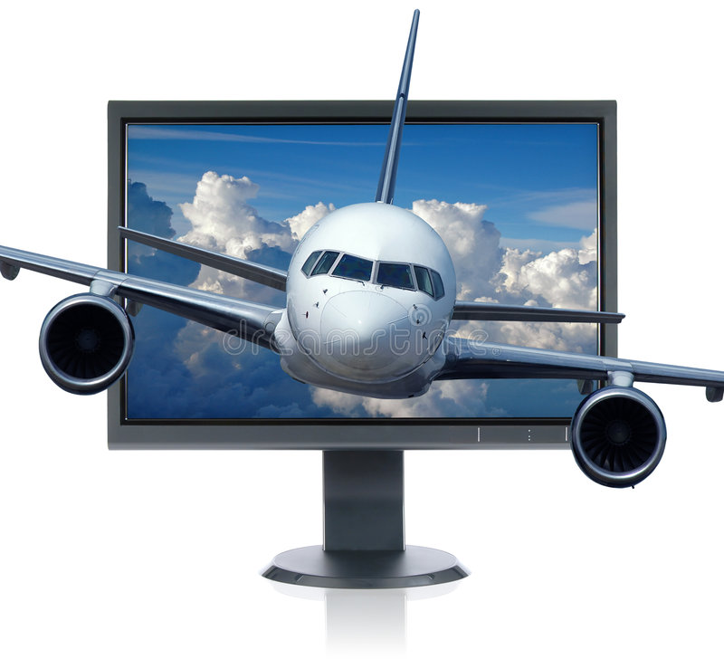 Download Airplane and monitor stock image. Image of digital, high - 2959495