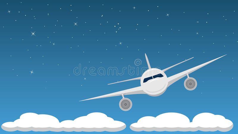 Download Airplane at Night stock vector. Image of dusk, vehicle - 14845628