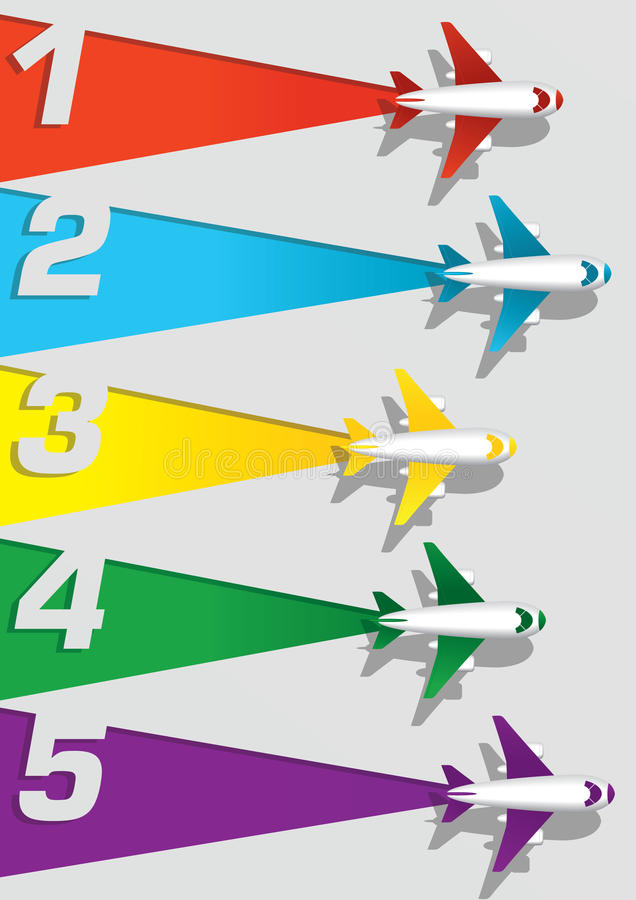 Airplane Numbering Stock Vector