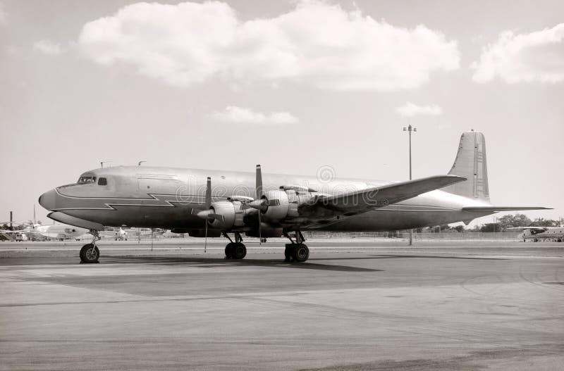 airplane old turboprop στοκ φωτογραφίες