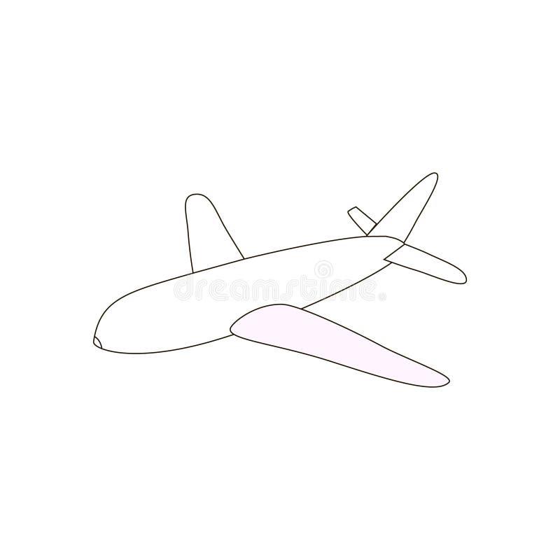 Airplane Outline Icon, Black Line, Simple Plane Icon Stock ...