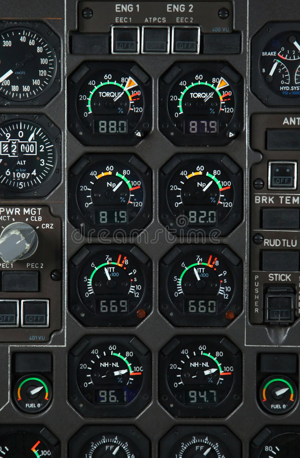 Download Airplane power panel stock image. Image of plane, flow - 8364383
