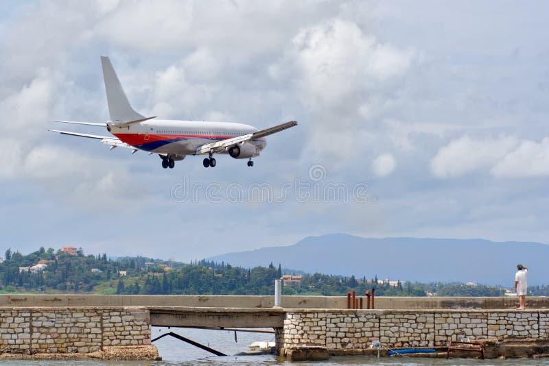 Download Airplane preparing to land stock photo. Image of plane - 1164362