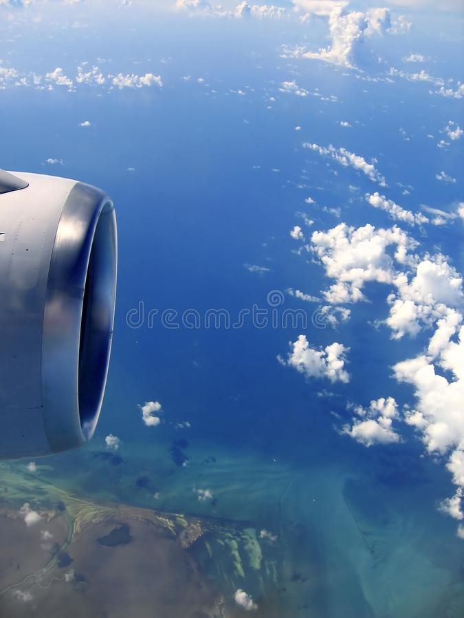 Download Airplane Reactor Sky View From Aircraft Stock Photo - Image of cloudscape, overcast: 13895282