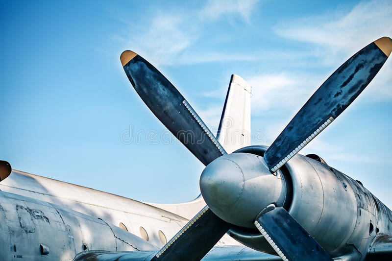 Airplane retro vintage propeller detail stock images
