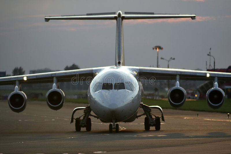 Download Airplane On The Runway Stock Photos - Image: 2666963