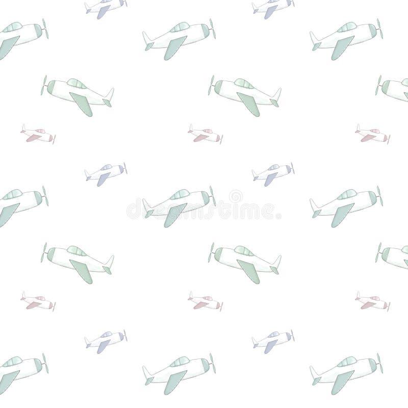 Airplane seamlless pattern clip art air illustration darwing airbus on white background. Airplane clip art air illustration darwing airbus stock illustration