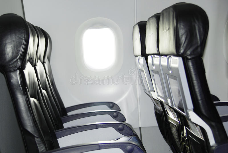 Airplane seat stock photos