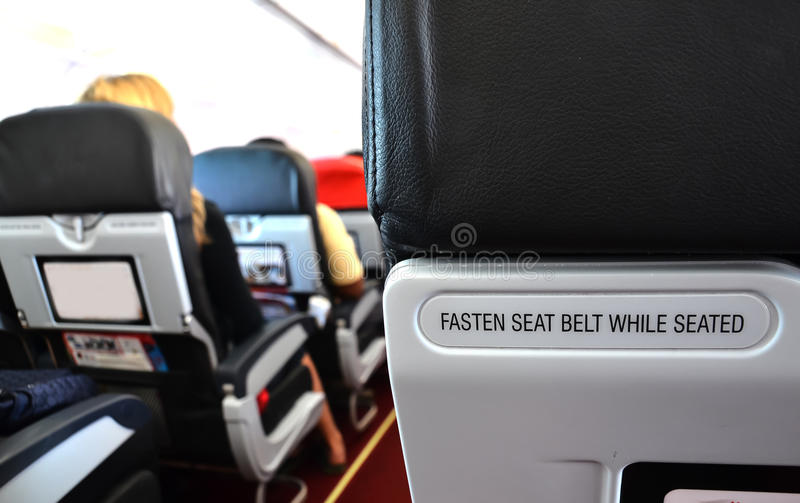 Airplane Seat Stock Photo