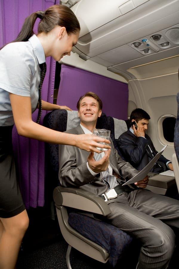 Airplane service royalty free stock photo
